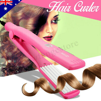 Hair Curler Crimper Straightener Electric Iron Roller Ceramic Anion Wet Dry Wand