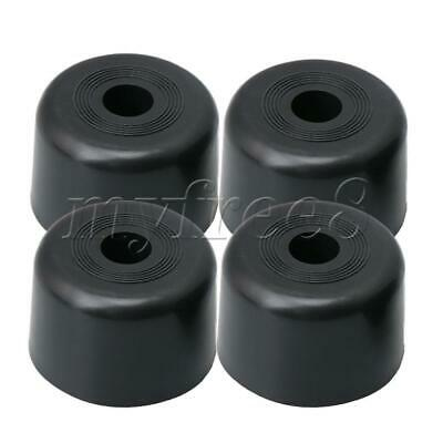 4x Black Plastic 60mm Dia Round Furniture Feet for Couch Bed Table Cabinet Leg