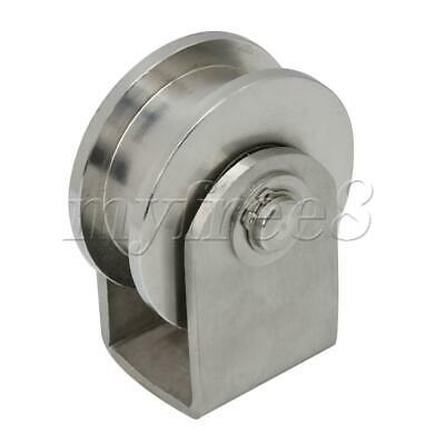 Large Size H Type Rail Roller Stainless Steel H-Shape Rail Roller Fixed Pulley
