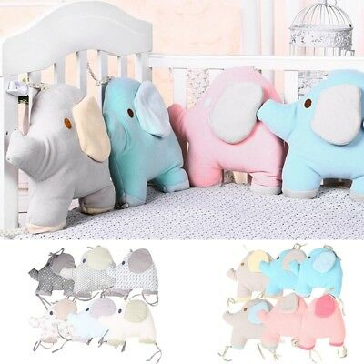 6PCS/Set Baby Bumpers Cartoon Elephant Infant Crib Bed Protector Cute Cot Pads