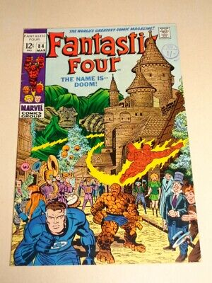 Fantastic Four #84 Fn- (5.5) Marvel Comics Kirby Dr Doom March 1969**