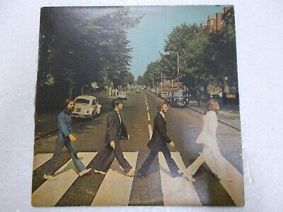 THE BEATLES ABBEY ROAD PARLOPHONE Y/B LP INDIA error/misprint megarare vg+