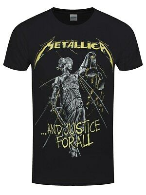 Metallica T-Shirt And Justice For All Tracks Homme Noir