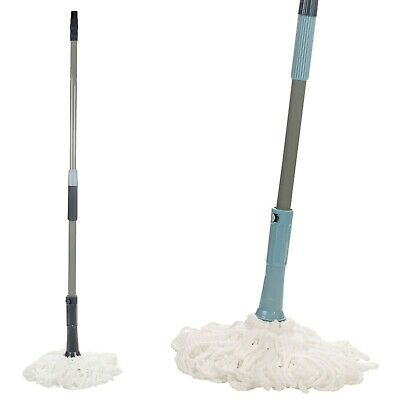 360° Extendable Microfibre Twist Wringing Mop Magic Wet & Dry Floor Cleaning