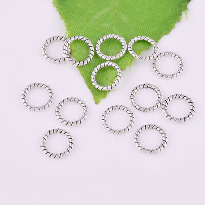 Hot 50pcs Tibetan silver Round Ring Charm Spacer Beads Jewelry Finding 8x1mm