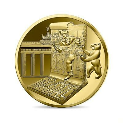 Frankreich 30 Years Fall Of The Berlin Wall Gold Beweis 5 Euro Münze Mni