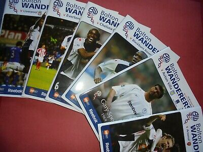 2011/12 Bolton Home Programmes Choose From