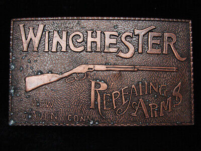 PJ09132 VINTAGE 1970s **WINCHESTER REPEATING ARMS** GUN & FIREARM BELT BUCKLE