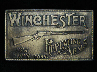 PH09125 VINTAGE 1970s **WINCHESTER REPEATING ARMS** GUN & FIREARM BELT BUCKLE