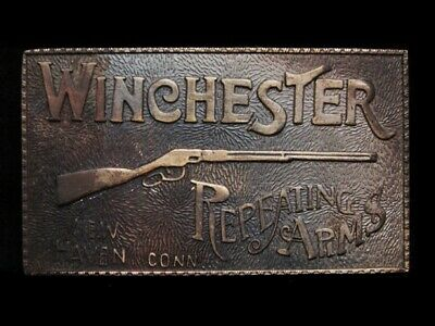 MJ05108 VINTAGE 1970s **WINCHESTER REPEATING ARMS** GUN BELT BUCKLE