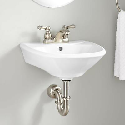 Signature Hardware Farnham Mini Porcelain Wall Mount Bathroom Sink