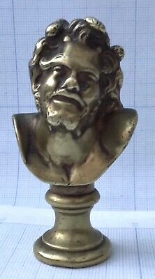 Fine antique French small gilded bronze bust of a character from Antiquity