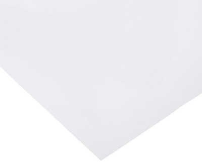 12 x 10 Ft Roll of Glossy Oracal 651 White Permanent Adhesive-Backed Vinyl for X