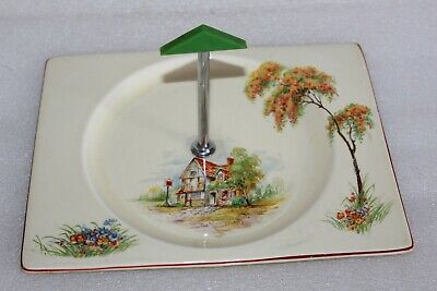 Clarice Cliff Royal Staffordshire The Biarritz Cake /biscuit Handled Tray