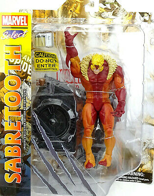 "Marvel Diamond Select Toys Sabretooth Actionfigure / Pvc Statue 8"" Inch"