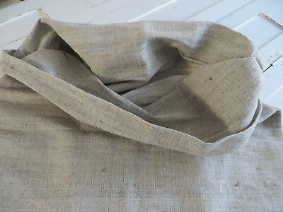 "Antique German  Grainsack Feed Sack Handwoven Dark Natural Linen 27"" by 46"""