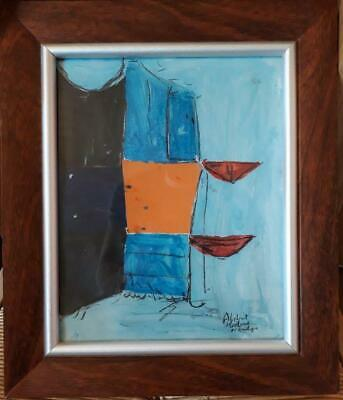 'abstract Harbour Newlyn' - Amazing Cornish/newlyn School Abstract Study