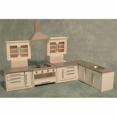 1/12 Streets Ahead Dolls House Modern White Kitchen Set DF977