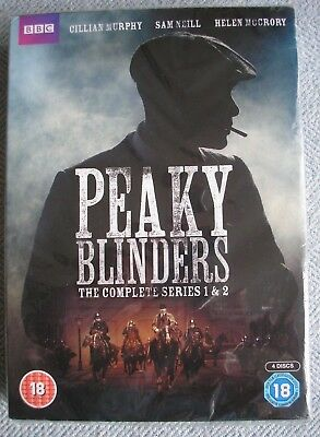 PEAKY BLINDERS -THE COMPLETE SERIES 1&2 (DVD 4 DISC BOX SET) Brand New BBC