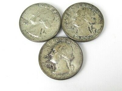 Collectible 1957 United States Silver Washington Quarter Coin Lot of 3