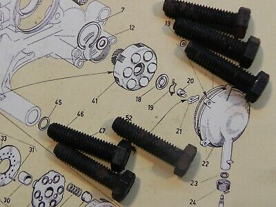 Vespa 6 Bolts for Clutch Cover