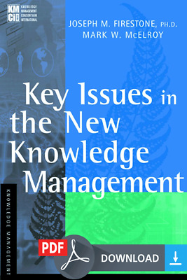 Key Issues in the New Knowledge Management: 1st (First) Edition [PDF] EB00K