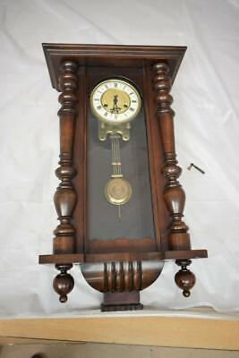 Antique Wooden Wall Clock With R=A Pendulum  - Height 70cm
