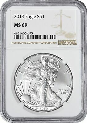 2019 American Silver Eagle Dollar MS69 NGC