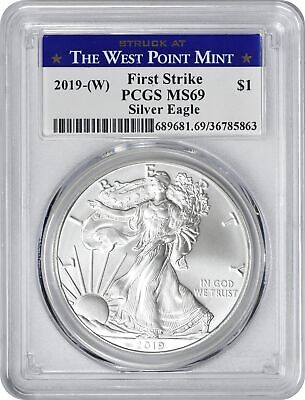 2019-(W) American Silver Eagle Dollar First Strike MS69 PCGS Struck @ West Point