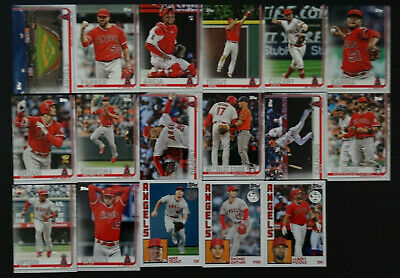 2019 Topps Series 1 Los Angeles Angels Team Set 17 Baseball Cards W1984 Inserts