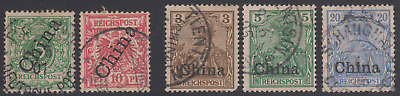 Germany PO in China 1898-1901 -- 5 used values