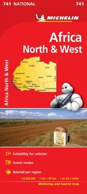 Africa North & West NATIONAL Map (Michelin National Maps) (Paperb...