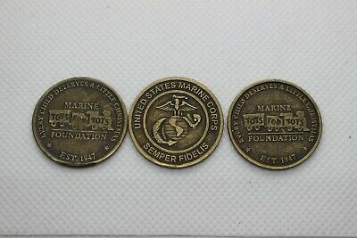 Lot 3 - US MARINE Corps Challenge COIN Token TOYS for TOTS Trains Semper Fidelis