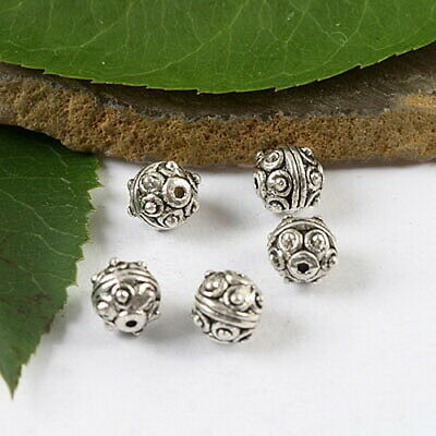 20Pcs Tibetan silver studded round spacer beads h1700