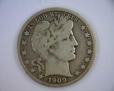 1909-S Silver 50 cents Barber Halves  Liberty Full Motto | FM (RC2019)