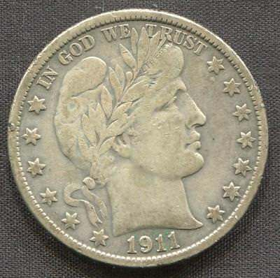 1911-S Silver 50 cents Barber Half | Key Date (RC4956.ULT.EB2)