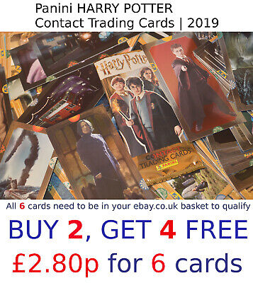 HARRY POTTER Contact Trading Cards | Panini 2019 | SELECT YOUR card (1-140)