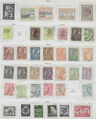 34 Romania Stamps from Quality Old Album 1913-1925