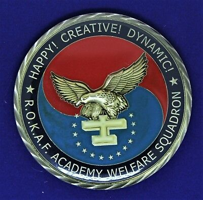 ROKAF Korea Air Force Academy Welfare Squadron Challenge Coin KC-7