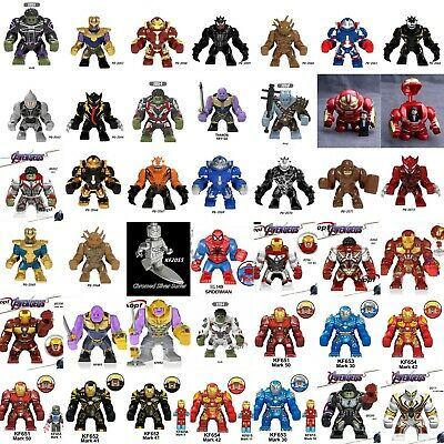 7cm Big Size Figures DC Marvel The Avengers Thanos Hulkbuster Iron Man fit Lego