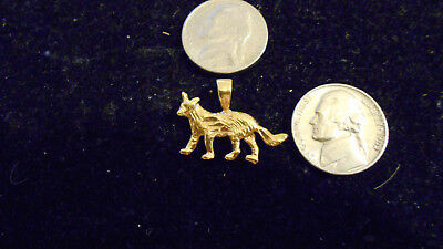 bling gold plated MYTH legend WOLF animal FASHION pendant charm necklace jewelry
