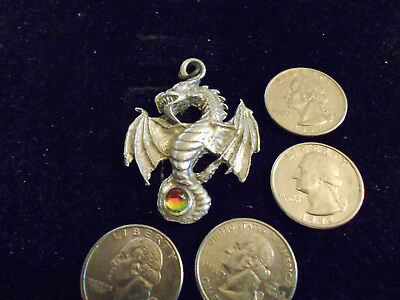 bling pewter stonehenge celt myth ENGLISH dragon pendant charm necklace JEWELRY