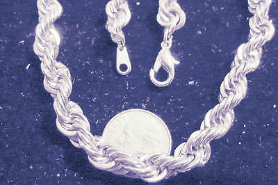 bling silver plated 4mm 30 in fashion JEWELRY rope chain hip hop necklace diy ep