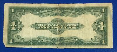"""1923 $1 Blue """"LARGE SIZE"""" SILVER Certificate """"HORSEBLANKET"""" x573 Currency! Rough"""
