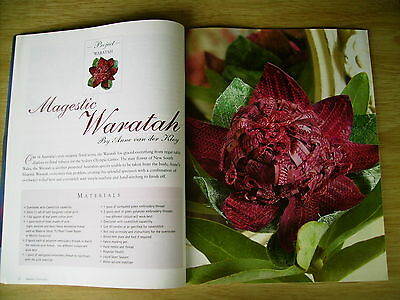Machine Embroidery Vol 10 #4~Waratah~Lampshade~Quilts~Activity Book (Pt 3)~Dress