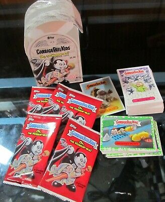 Garbage Pail Kids Oh The Horror Ible Lot Box Wrappers Green Border Cards Horror