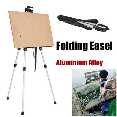 Artist Folding Painting Easel Adjustable Tripod Display Stand W/ Carry Bag White