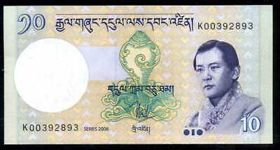 BHUTAN  -  10  NGULTRUM  2006     -  P  29a   Uncirculated Banknotes