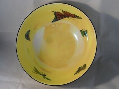 "ART DECO? CROWN DUCAL WARE BUTTERFLY LUSTRE BOWL c1916+ RARE? 9"" WIDE NO CHIPS"