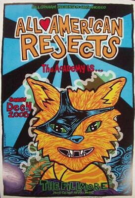 All American Rejects Fillmore Original Concert Poster F739